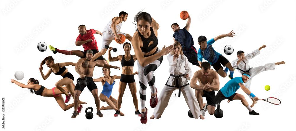 Huge multi sports collage athletics, tennis, soccer, basketball, etc