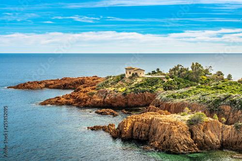 фотография red rocks coast Cote d Azur near Cannes, France