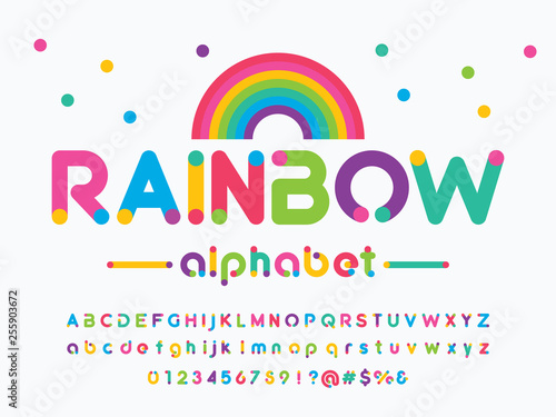 Tela Vector of modern colorful alphabet design