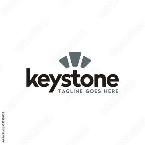 Canvas-taulu modern typography keystone logo design