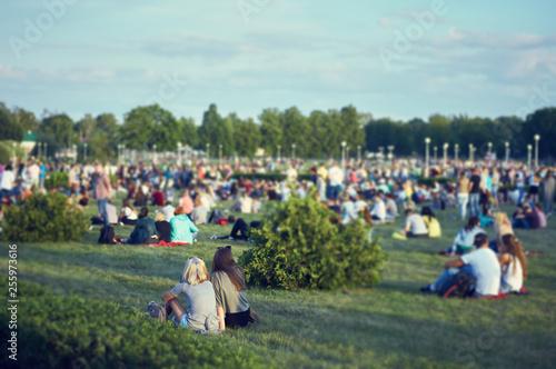 people at an open-air concert Fototapeta