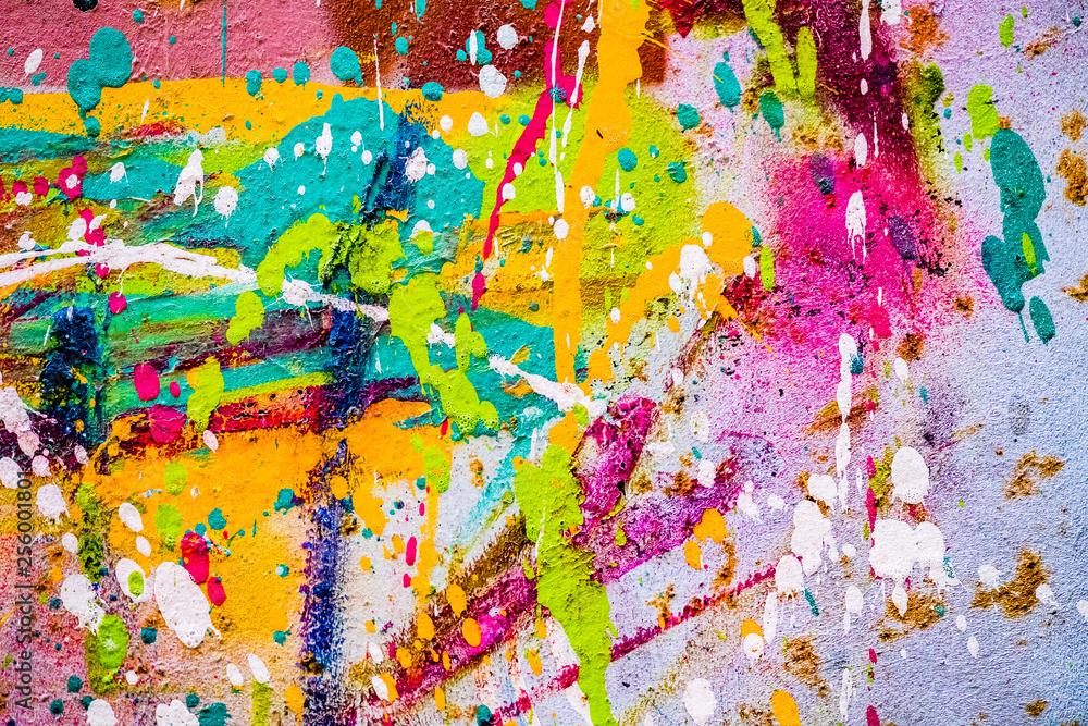 Arrière plan tâches de peinture multicolore