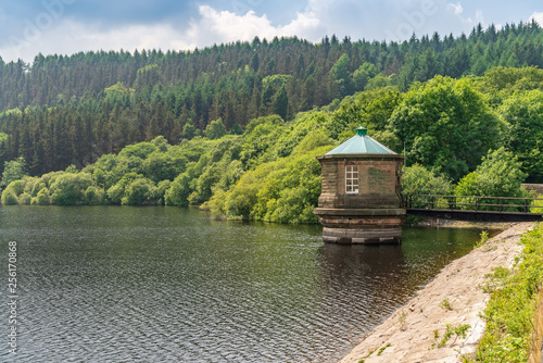 Canvas Print View over Fernilee Reservoir  near Buxton in the East Midlands, Derbyshire, Peak