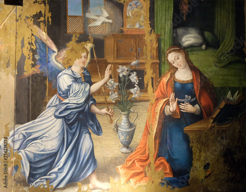Annunciation of the Virgin Mary, altarpiece in the Saint Germain l'Auxerrois chu Fototapet