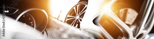 Fotografia, Obraz Automobile Kollage // Tacho // Felge // Reifen