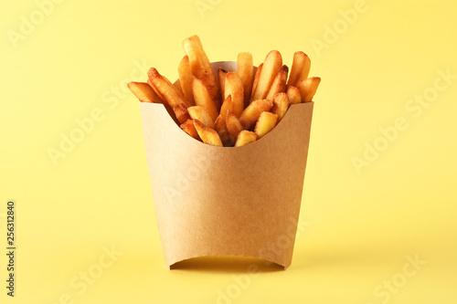 Fotografiet French fries in kraft french fry box