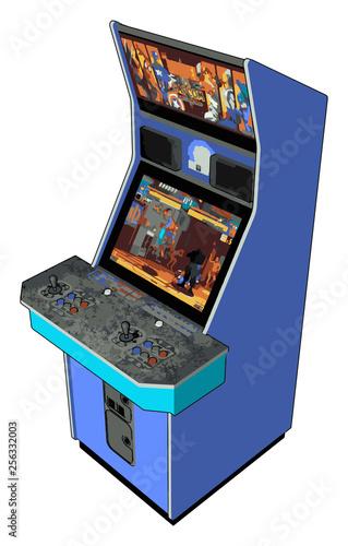 Fototapeta A multiplayer videogames vector or color illustration