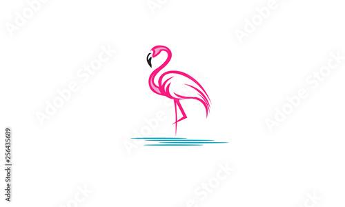 Obraz na plátne Flamingo-logo