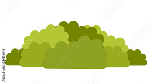 Canvas Deciduous shrubs vector icon flat isolated illustration