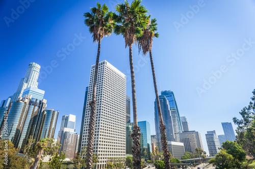 Naklejki na meble Panoramę centrum miasta Los Angeles, Kalifornia, USA