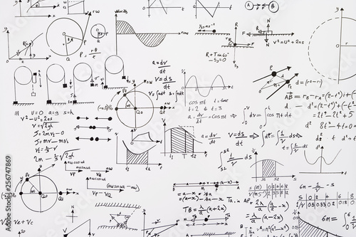 Canvas Print Mathematical equations a wall