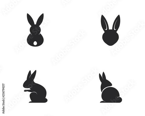 Rabbit Logo template vector icon illustration design Fototapete