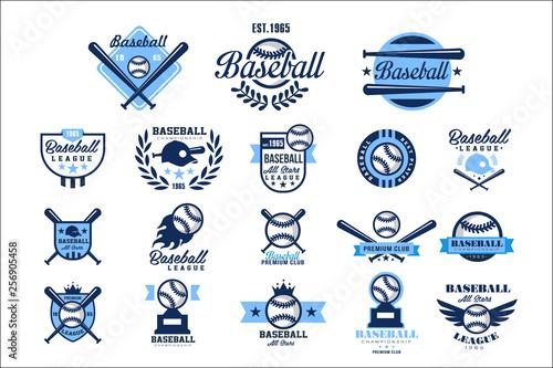 Canvas Print Set of American baseball logo