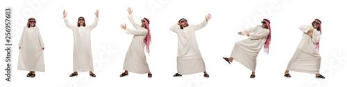 Fotografija Happy arab man isolated on white