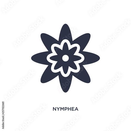 Fotografie, Obraz nymphea icon on white background