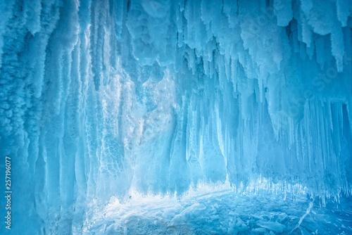 Obraz na plátne Inside the blue ice cave at Lake Baikal, Siberia, Eastern Russia.