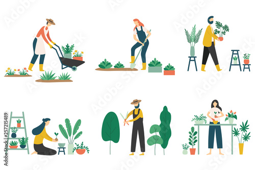 Canvas-taulu People gardening