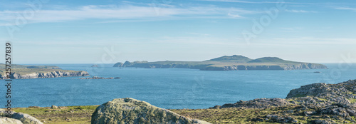 Stampa su Tela Panoramic View from St Davids Head in Pembrokeshire, Wales