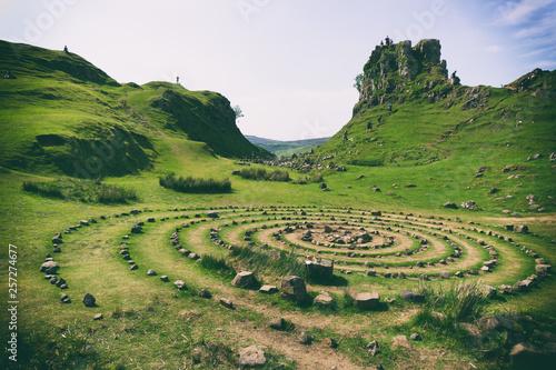 Fairy Glen, Isle of Skye, Scotland. Fototapeta
