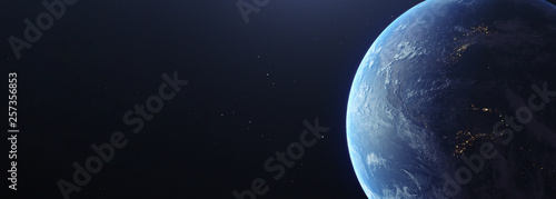 Canvas Print Photorealistic earth from space