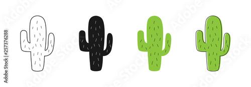 Fotografie, Obraz Isolated Cactus icons