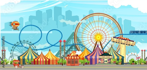 Foto Amusement park circus