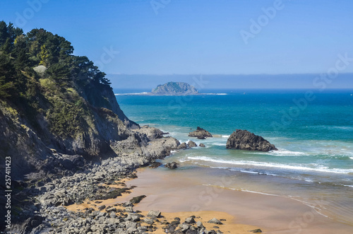 Beach of Laga, vizcaya, Basque Country, Spain