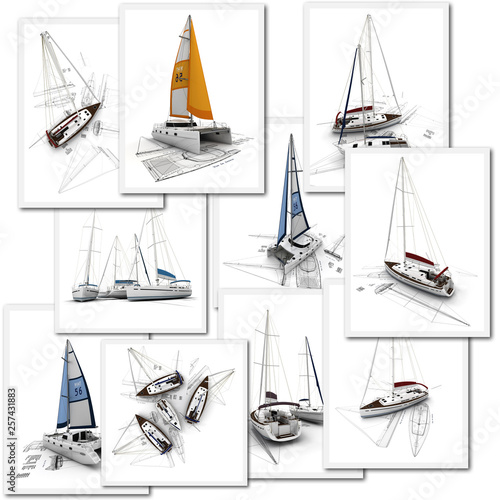 Tableau sur Toile Sailboats design projects