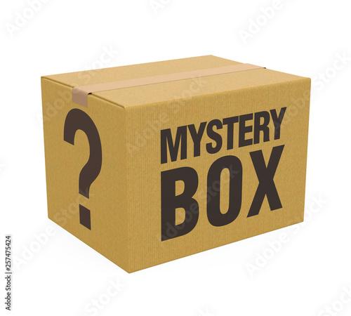 Obraz na płótnie Mystery Box Isolated