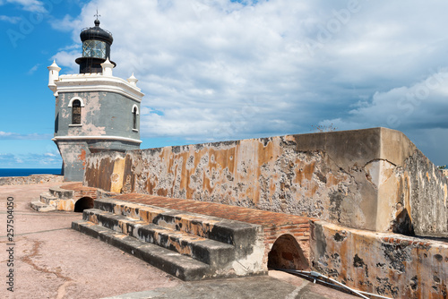 Canvas Print Sentry tower, Castillo del Morro