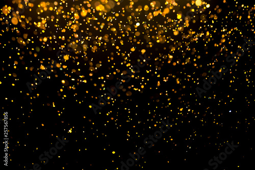 Fotografie, Tablou glitter gold bokeh Colorfull Blurred abstract background for birthday, anniversa