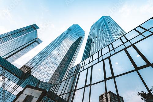 Fotografia, Obraz Modern skyscrapers in business district