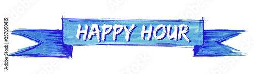 Fotografiet happy hour ribbon