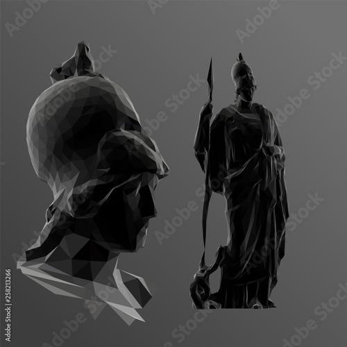 Canvas Print Greek Goddess Athena in Black and White