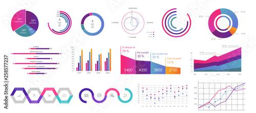 Obraz na płótnie Editable Infographic Templates