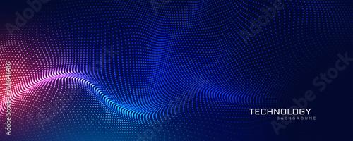 Obraz na płótnie abstract technology particles mesh background