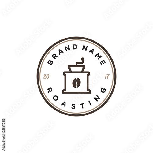 Fotografija coffee roaster logo design