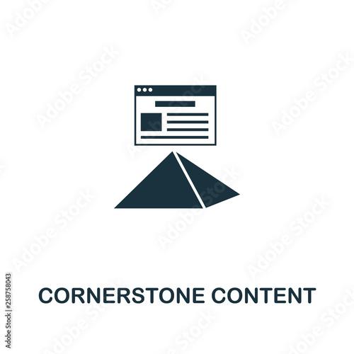 Fotografie, Obraz Cornerstone Content icon