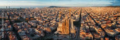 Canvas Print Sagrada Familia aerial view