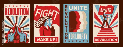 Fotografie, Obraz Revolution Posters Set