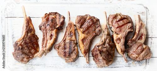 Fotografie, Obraz Grilled lamb ribs