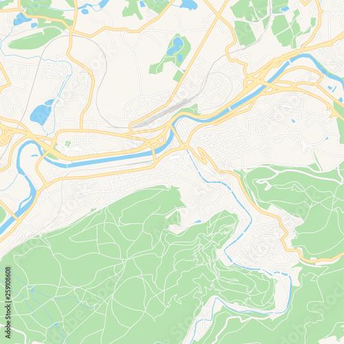 Stampa su Tela Karlovy Vary, Czechia printable map