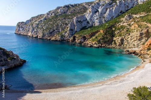 Carta da parati Granadella cove beach in Javea, Spain