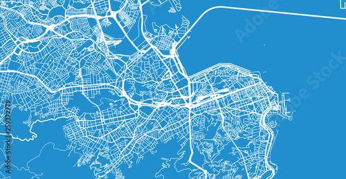 Obraz na plátně Urban vector city map of Rio de Janeiro, Brazil