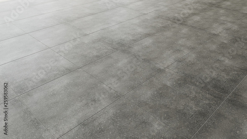 Fotografia Pavimento in piastrelle gres porcellanato grigio scuro