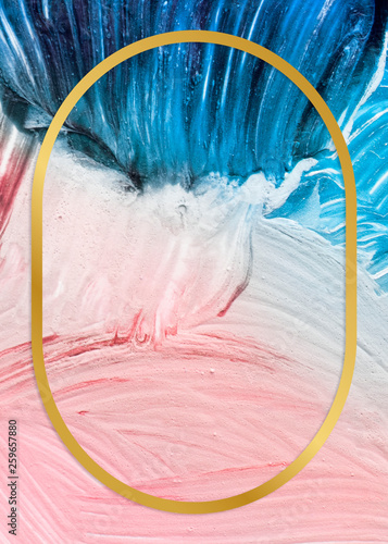 Fotografia, Obraz Paint texture backdrop frame