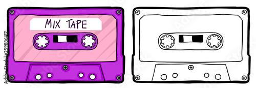 Obraz na plátně Retro cassette tape
