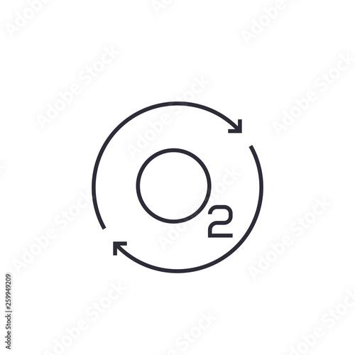 Carta da parati oxygen icon with arrows, line vector