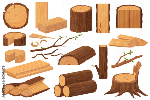 Photo Wood industry raw materials
