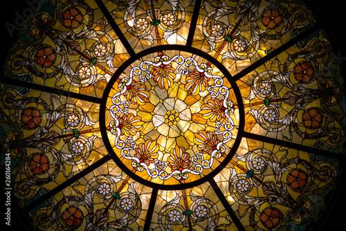 Obraz na plátne A Stained Glass Dome